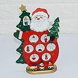 New Christmas Wooden Santa Desktop Small DIY Mini Christmas Decorations Scene Window Ornaments Elderly models