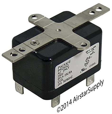 Goodman - 90-293Q Replacement Heavy Duty Switching Fan Relay SPDT 24 V Coil