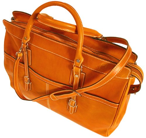 Floto Luggage Casiana Leather Tote, Orange, Large by Floto