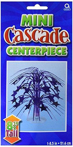 Amscan Party Friendly Sparkling Star Mini Cascade Centerpiece Decoration Supplies (6), Blue, 6 Pieces