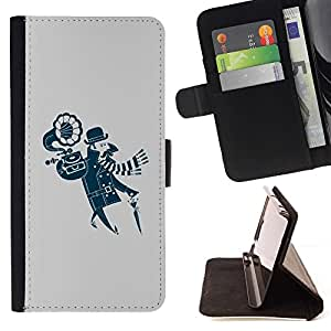 DEVIL CASE - FOR HTC DESIRE 816 - Funny Hipster Portable Vinyl - Style PU Leather Case Wallet Flip Stand Flap Closure Cover