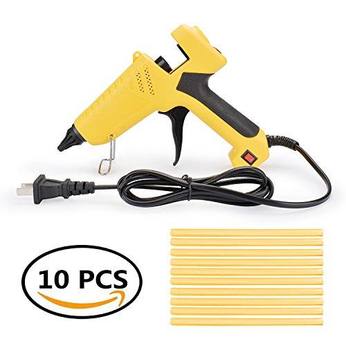 Pdr Gun (HOTPDR 100W Hot Melt Glue Gun With with 10 Pcs Glue Sticks HighTemperature Melting Glue Gun Kit for PDR Home Repair DIY Art Work)