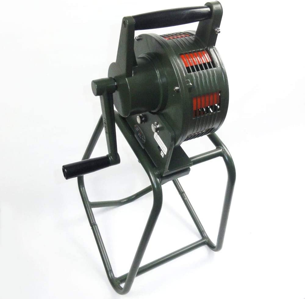 Sirene manuell Handsirene 120 dB Alarm THW Feuerwehr Milit/är GR/ÜN ALU