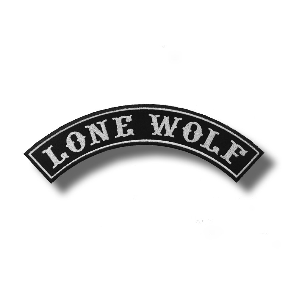 Lone Wolf/?/brod/ée Patch 30/x 10/cm