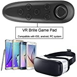 IVSO VR Remote Control - Bluetooth Gamepad Remote Controller for Samsung Gear VR, Phones, Tablets, PC-Easy control for Selfie, Video, Music, Mouse, Ebook, Game and VR-10M Serviceable Range (Black)