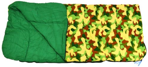 Bazoongi Big Kids Slumber Bag, Green Camouflage