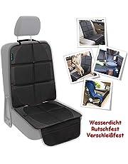 Autositzschoner Kindersitz Autositzauflage Kindersitzunterlage Rutschfeste Unterlage ISOFIX passende Autositzschoner wasserdicht 600D PVC Leder Schutzunterlage für Universale Autos SNAWOWO