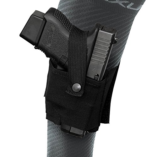 Tagua NYAK-005 Nylon Ankle Holster for Kelt 380, Ruger-Taurus TCP, Bersa 380, Walther PPK, Black, Right Hand (Mm Ppk Walther 9)
