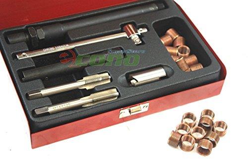Spark Plug Hole Repair Shop - 26pc Spark Plug Thread Repair Kit M14 x 1.25 with Metal Case