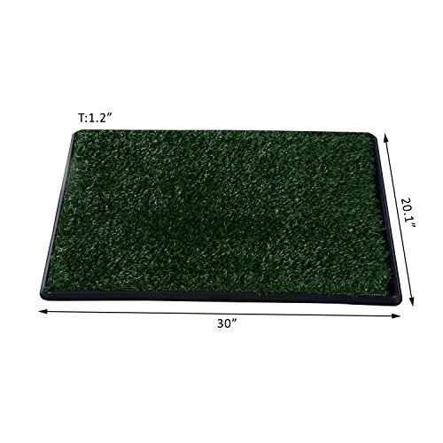 Grass Pad Restroom Potty Training w/Tray Indoor Outdoor New 30'' Large Pet Dog Toilet by totoshop