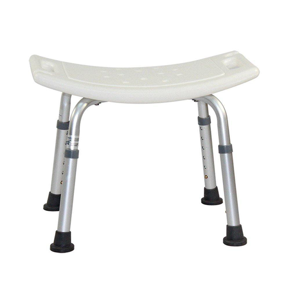 Bath stool Old man shower chair/bathroom stool/non-slip handicapped bath chair pregnant woman 8 height adjustment/aluminum alloy bracket