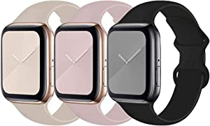 Bifeiyo Compatible for Apple Watch Band,Soft Silicone Sport Bands Replacement Strap Compatible with iWatch Series 1/2/3/4/5/6/SE
