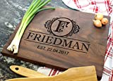 Best Parents Gifts - BAYLN Personalized Cutting Boards, Wooden Custom Engraved Chopping Review