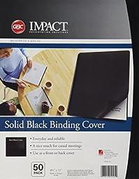 GBC Solids Standard Presentation Covers, Non-Window, Square Corners, Black, 50 Pieces Per Box (2514493)