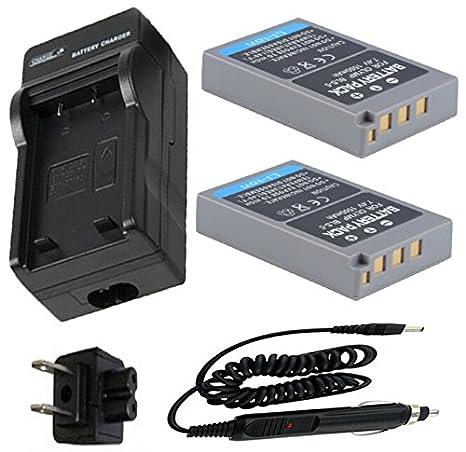 Batería (2-Pack) y cargador para Olympus PEN E-PL5, E-PL6, E ...