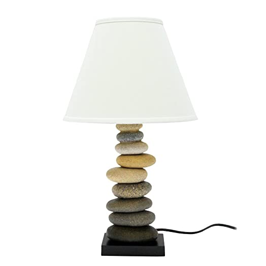 Dennis East 70230.0 1 Light Stone Cairn Table Lamp, 18.5