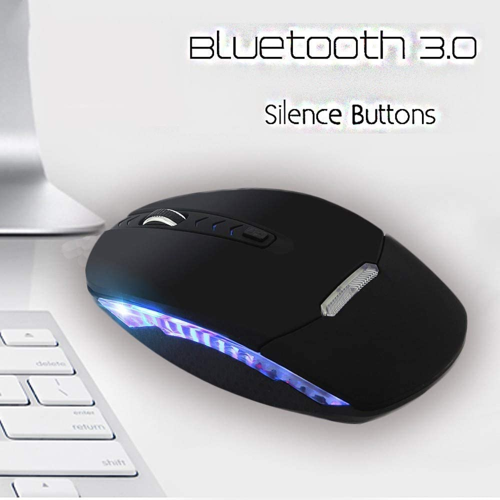 BINGFEI Silent Wireless Bluetooth 3.0 Mute Mouse USB Rechargeable Optical Mause Quiet Noiseless 1200 Dpi for Laptop Accessories,Gold