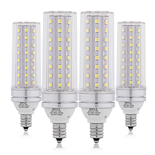 E12 LED Bulbs, 16W LED Candelabra Bulb 120 Watt Equivalent,1400lm, Decorative Candle Base E12 Non-Dimmable LED Chandelier Bulbs, Cool White 6000K, LED Corn Lamp, Pack of 4