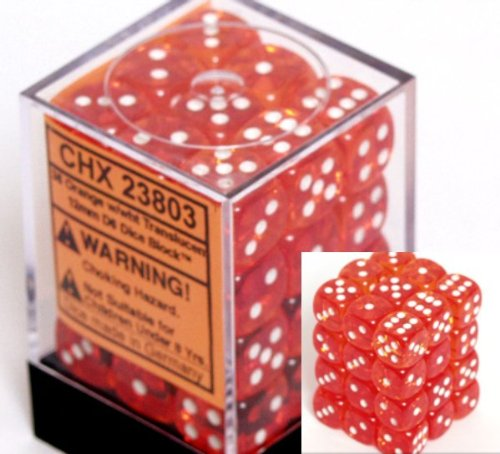 dice d6 sets orange