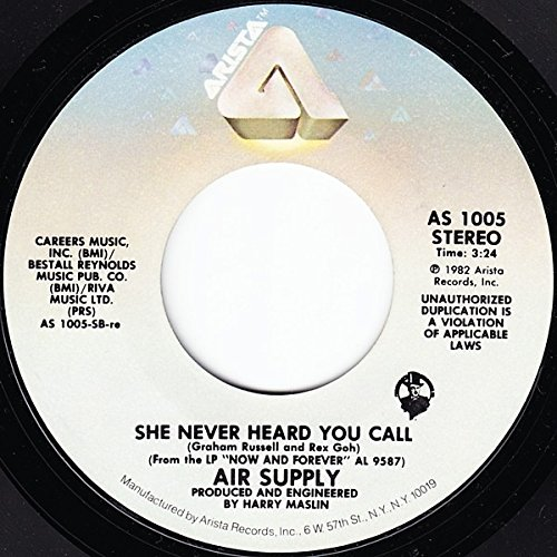 Air Supply; Young Love / She Never Heard Me Call (7