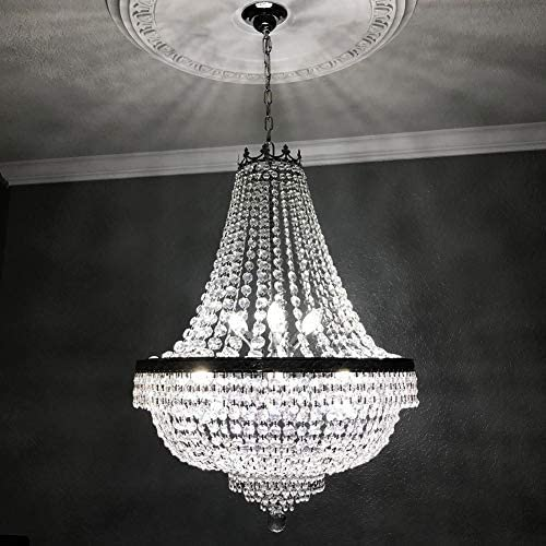 Gdrasuya10 110V French Empire Crystal Silver Chandelier Lighting