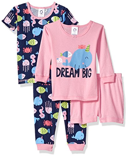 Gerber Baby Girls 4 Piece Pajama Set, Dream Big, 12 Months - Long Girls Pajamas