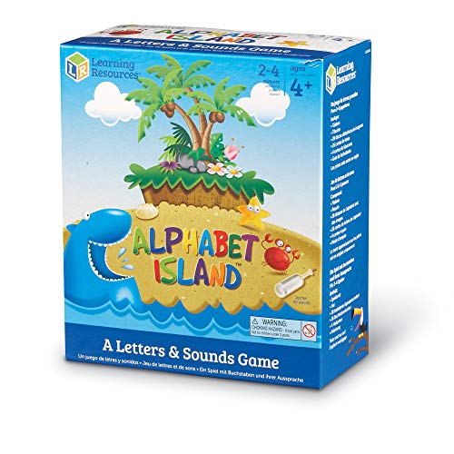 Learning Resources Alphabet Island, Letter & Sounds Game, Language Development Toy, 2-4 Players, Ages 4+