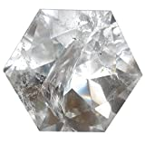 Quartz Polygon Clear 51 Top Quality Crystal Cut Diamond Star of David Natural Faceted Gemstone 2.2''