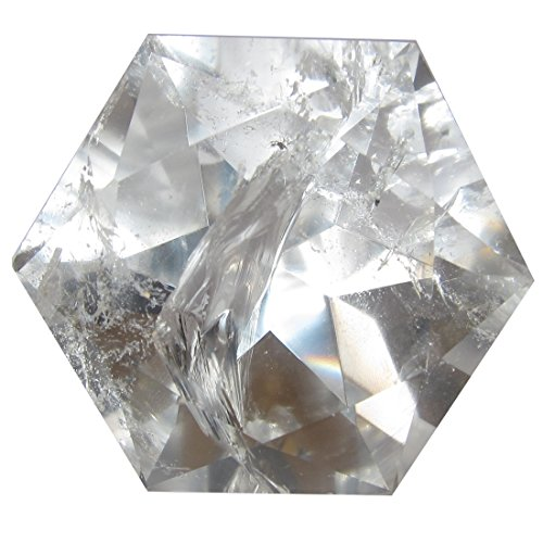 Quartz Polygon Clear 51 Top Quality Crystal Cut Diamond Star of David Natural Faceted Gemstone (Quartz Gem Faceted Diamond)