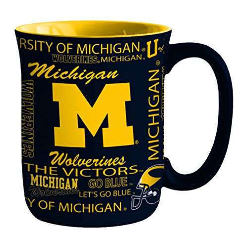 NCAA Michigan Wolverines Sculpted Spirit Mug, 17-ounce