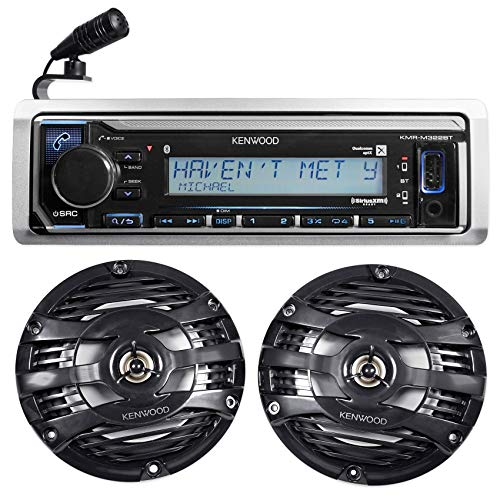 Kenwood KMR-M322BT Marine Bluetooth Receiver USB/Android/iPh