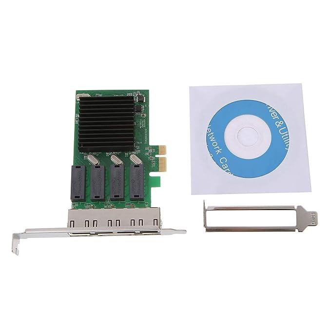 Nii PCI-E x4 Adaptador Gigabit Ethernet Tarjeta controladora ...