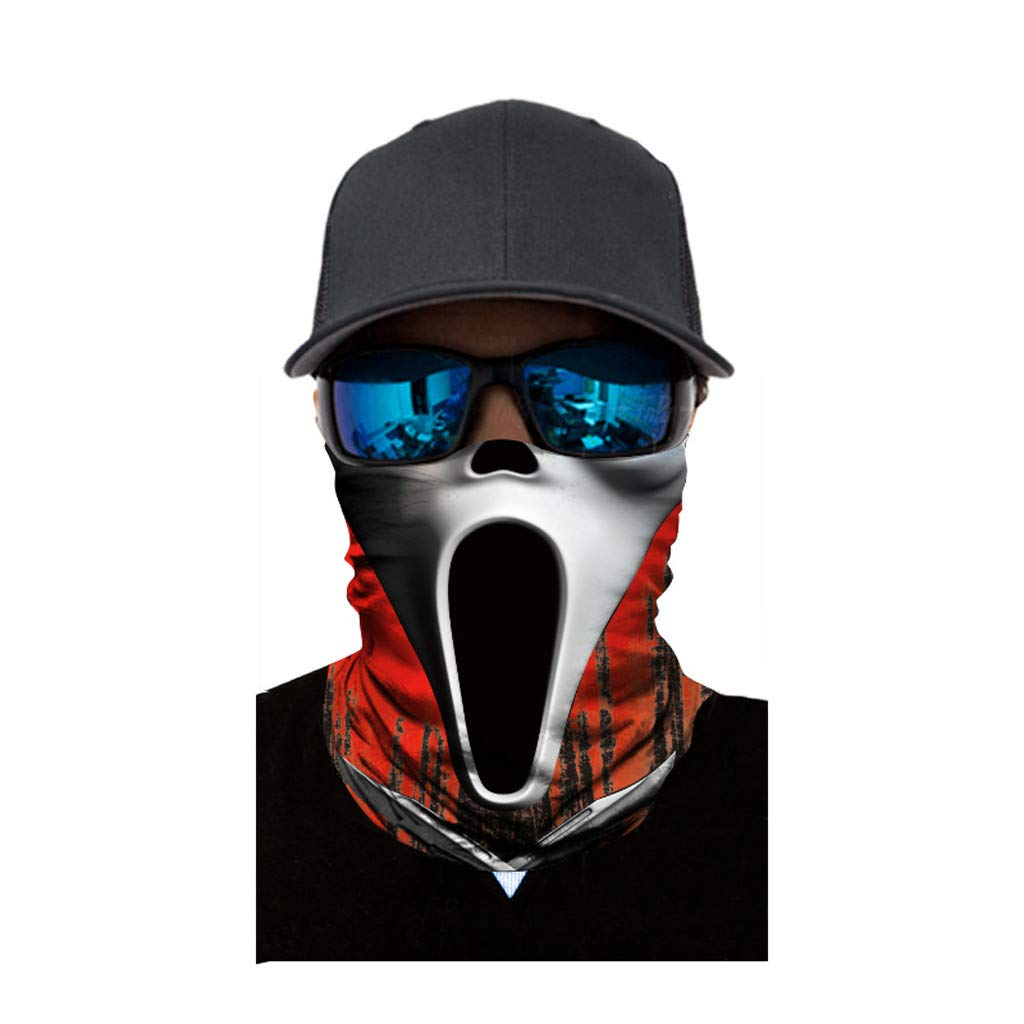 Dream_mimi Full Function Ski Motorcycle Riding mask Neck Tube Warmer Cycling Biker Scarf Wind Face Mask (E)