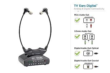 TV Ears 11741 - Auriculares in-ear para TV, negro: Amazon.es: Electrónica