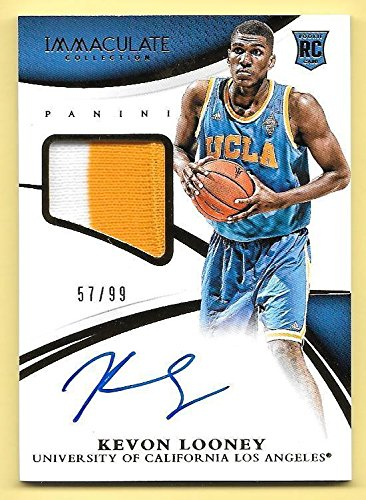 2015 Immaculate Multisport #346 Kevon Looney Jersey Autograph RC #57/99 UCLA
