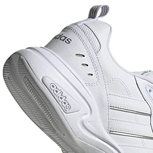 adidas Men's Strutter Sneaker, FTWR White/FTWR White/Matte Silver, 14 M US
