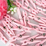 Tytroy Baby Shower Clothespins Small Clothespins Favors - Party Game 48pc (Pink)