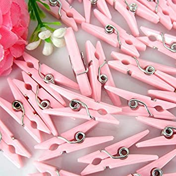 Tytroy Baby Shower Clothespins Small Clothespins Favors   Party Game 48pc  (Pink)