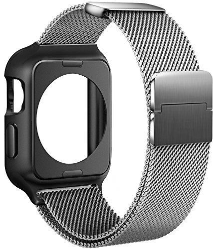 For Apple Watch Band 42mm, iWatch Bands 42mm for Men Series 3 2 1 Silver