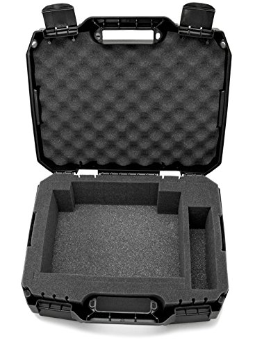 CASEMATIX Projector Travel Case Designed For Viewsonic PA503S / PA503W / PA503X / PG703W / PG703 WXGA XGA SVGA Projectors , HDMI Cable and Remote - Custom Foam Compartment and Hard Shell Protection by CASEMATIX