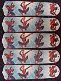 Ceiling Fan Designers 52SET-KIDS-AS3SM Amazing Spiderman 3 52 in. Ceiling Fan Blades Only