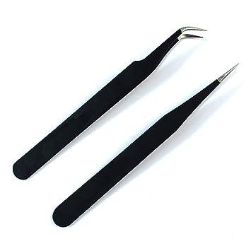 Leoboone Herramientas del clavo del clavo Pinzas de uñas en forma de codo de acero inoxidable se dirige directamente Pinzas Pinzas de uñas duraderos