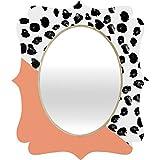 Deny Designs Rebecca Allen Animal and Peach Quatrefoil Mirror, Medium
