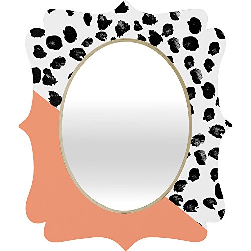 Deny Designs Rebecca Allen Animal and Peach Quatrefoil Mirror, Medium by Deny Designs