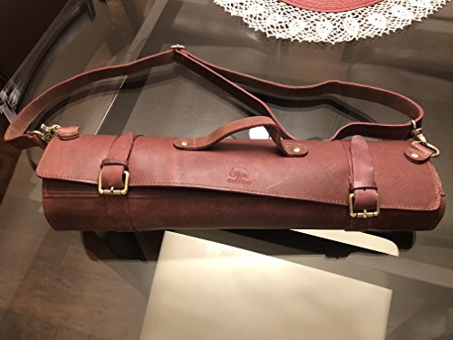 Genuine Leather Chef Knife Roll - All Purpose Chef Roll Up Kit - Portable Kitchen Knives Protector by Rustic Town (Image #7)