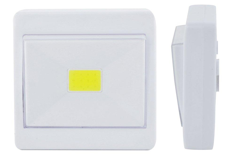 Mini Interruttore a Muro Senza Fili Magnetico con Mini-plafoniera LED COB con Luce Notturna 5407 Iso Trade Lampada da Parete Senza Fili a LED COB a Pile