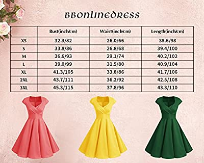 Bbonlinedress Women Short 1950s Retro Vintage Cocktail Party Swing Dresses
