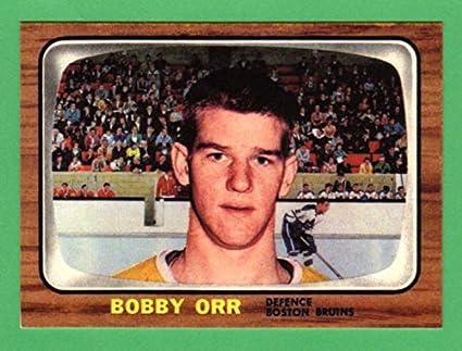 Bobby Orr 1966 Topps Hockey Rookie Reprint Card Bruins At