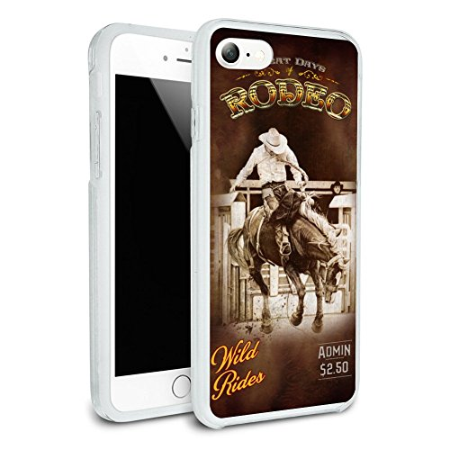 Cowboy Western Rodeo Vintage Horse Bucking Riding Protective Slim Fit Hybrid Rubber Bumper Case for Apple iPhone 7