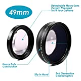 Neewer 0.45x 49mm Professional 2IN1 Super Wide Angle Lens with Detachable Macro Close Up Conversion Lens for DSLR Camera